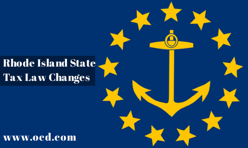 Summary of the 2015 Rhode Island Tax Law Changes
